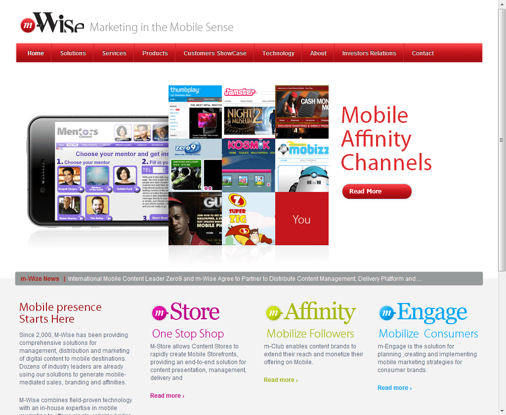 אתר אינטרנט: M-WIZE