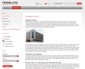 בניית אתר אינטרנט לפרויקט לקוח: Rosslare Security