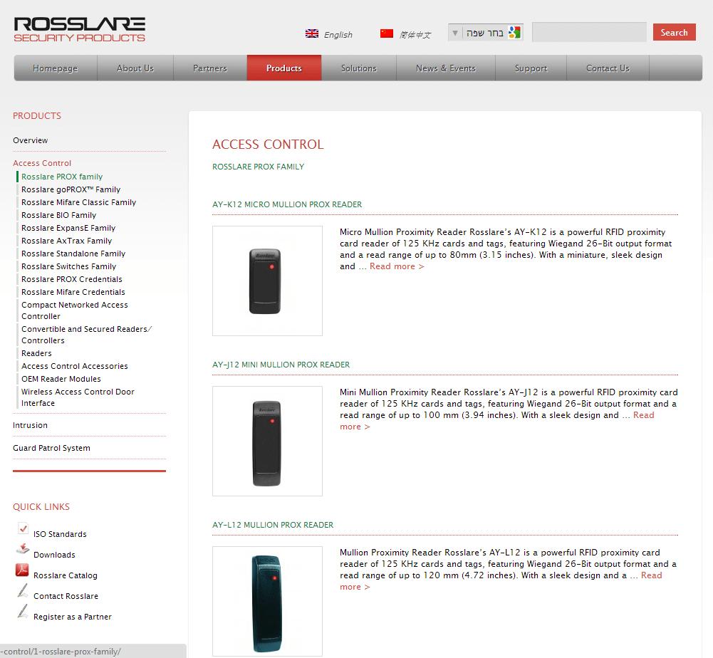 Rosslare Security - Webguy - אתרי אינטרנט ודיגיטל